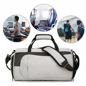 CLEVER BEES Tas Duffel Olahraga Yoga Gym Fitness dan Travel - L118 - Navy Blue - 5