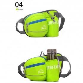 CLEVER BEES Tas Pinggang Holder Botol Minum Sporty Waist Bag - L11 - Black - 2