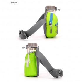 CLEVER BEES Tas Pinggang Holder Botol Minum Sporty Waist Bag - L11 - Black - 3