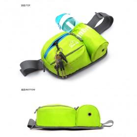 CLEVER BEES Tas Pinggang Holder Botol Minum Sporty Waist Bag - L11 - Black - 4