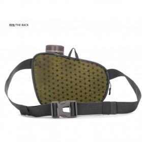 CLEVER BEES Tas Pinggang Holder Botol Minum Sporty Waist Bag - L11 - Black - 5