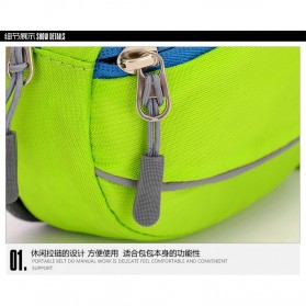 CLEVER BEES Tas Pinggang Holder Botol Minum Sporty Waist Bag - L11 - Black - 6