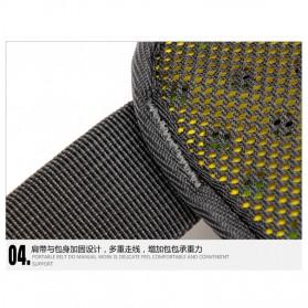 CLEVER BEES Tas Pinggang Holder Botol Minum Sporty Waist Bag - L11 - Black - 8