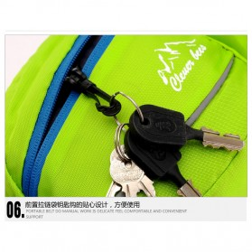 CLEVER BEES Tas Pinggang Holder Botol Minum Sporty Waist Bag - L11 - Black - 10