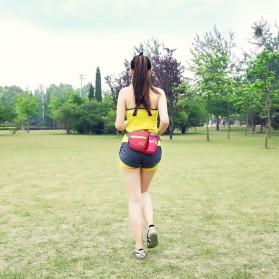 CLEVER BEES Tas Pinggang Holder Botol Minum Sporty Waist Bag - L11 - Black - 11