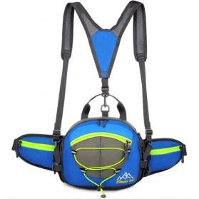 Olahraga Lari - CLEVER BEES Tas Pinggang Sporty Waistbag Model Bladder - L29 - Blue