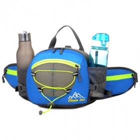 CLEVER BEES Tas Pinggang Sporty Waistbag Model Bladder - L29 - Blue - 2