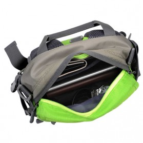 CLEVER BEES Tas Pinggang Sporty Waistbag Model Bladder - L29 - Blue - 3