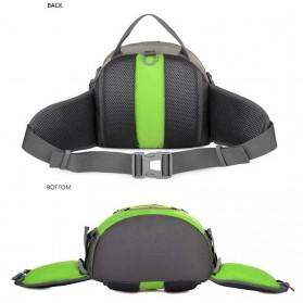CLEVER BEES Tas Pinggang Sporty Waistbag Model Bladder - L29 - Blue - 4