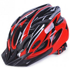 TaffSPORT Helm Sepeda Bicycle Road Bike Helmet EPS Foam PVC Shell - PHMAX WX022 - Red