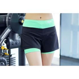Pro Sport Celana Pendek Gym Fitness Yoga Wanita Double Layer Size L - YG1878 - Red/Black - 3