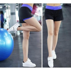 Pro Sport Celana Pendek Gym Fitness Yoga Wanita Double Layer Size L - YG1878 - Red/Black - 4