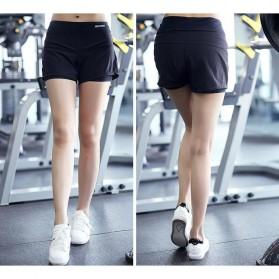 Pro Sport Celana Pendek Gym Fitness Yoga Wanita Double Layer Size L - YG1878 - Red/Black - 5
