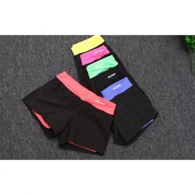 Pro Sport Celana Pendek Gym Fitness Yoga Wanita Double Layer Size L - YG1878 - Red/Black - 7