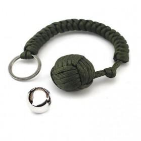 FGHGF Gantung Kunci Self Defense Monkey Fist Steel Ball Keychain - A0086 - Black - 5