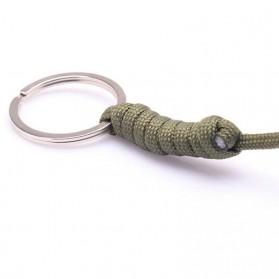 FGHGF Gantung Kunci Self Defense Monkey Fist Steel Ball Keychain - A0086 - Black - 6