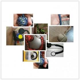 FGHGF Gantung Kunci Self Defense Monkey Fist Steel Ball Keychain - A0086 - Black - 7