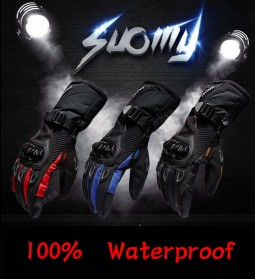 Suomy Sarung Tangan Motor Waterproof Windproof Touch Screen Cloves Size L - AFS6 - Black - 4