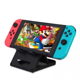 Aksesoris Video Game - DOBE Stand Holder Lipat Adjustable Foldable ABS Compact Bracket for Nintendo Switch - SW31 - Black
