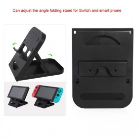 DOBE Stand Holder Lipat Adjustable Foldable ABS Compact Bracket for Nintendo Switch - SW31 - Black - 4
