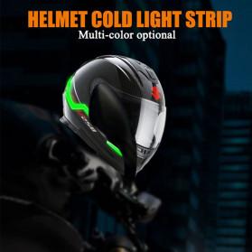 OLPAY Sticker Lampu Helm LED Light Strip Night Signal Luminous Waterproof - Nz1698 - Pink - 4