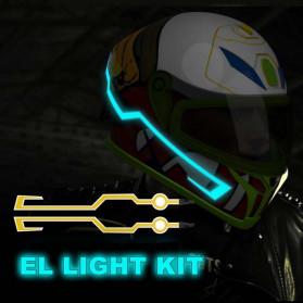 OLPAY Sticker Lampu Helm LED Light Strip Night Signal Luminous Waterproof - Nz1698 - Pink - 9