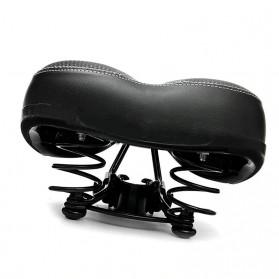 UpperX Jok Sadel Sepeda Bike Saddle Wide Seat Soft Pad Cushion - UX01 - Black - 5