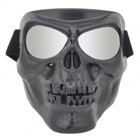 HEONYIRRY Masker Motor Topeng Airsoft Gun Full Face Model Tengkorak Skull Ghost Raider - MT009 - Black