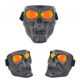 HEONYIRRY Masker Motor Topeng Airsoft Gun Full Face Model Tengkorak Skull Ghost Raider - MT009 - Black - 3