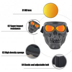 HEONYIRRY Masker Motor Topeng Airsoft Gun Full Face Model Tengkorak Skull Ghost Raider - MT009 - Black - 4