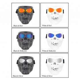 HEONYIRRY Masker Motor Topeng Airsoft Gun Full Face Model Tengkorak Skull Ghost Raider - MT009 - Black - 5