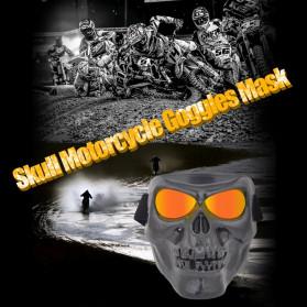 HEONYIRRY Masker Motor Topeng Airsoft Gun Full Face Model Tengkorak Skull Ghost Raider - MT009 - Black - 6