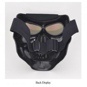 HEONYIRRY Masker Motor Topeng Airsoft Gun Full Face Model Tengkorak Skull Ghost Raider - MT009 - Black - 7
