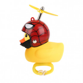 GMARTY Bell Sepeda Anak Bebek Rubber Duck Helm Spiderman with LED Light - YQ153 - Yellow