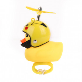 GMARTY Bell Sepeda Anak Bebek Rubber Duck Helm Pikachu with LED Light - YQ153 - Yellow