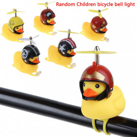 GMARTY Bell Sepeda Anak Bebek Rubber Duck Helm Iron Man with LED Light - YQ153 - Yellow - 6