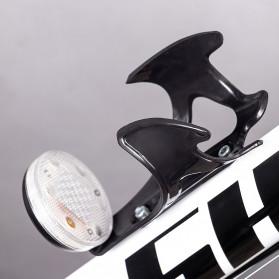 B-Soul Holder Botol Minum Sepeda MTB with LED Light - J-112 - Black - 7