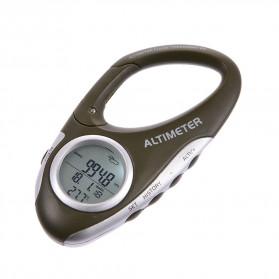 ANENG Alat Altimeter Barometer Thermometer Weather Forecast Hiking Karabiner - JN4-5 - Green - 2