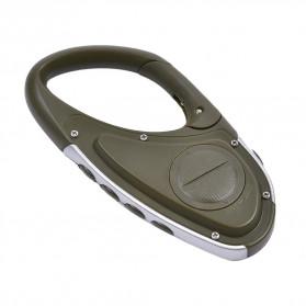 ANENG Alat Altimeter Barometer Thermometer Weather Forecast Hiking Karabiner - JN4-5 - Green - 3