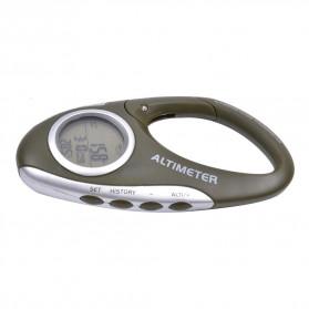 ANENG Alat Altimeter Barometer Thermometer Weather Forecast Hiking Karabiner - JN4-5 - Green - 4