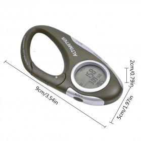 ANENG Alat Altimeter Barometer Thermometer Weather Forecast Hiking Karabiner - JN4-5 - Green - 5