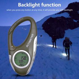 ANENG Alat Altimeter Barometer Thermometer Weather Forecast Hiking Karabiner - JN4-5 - Green - 6