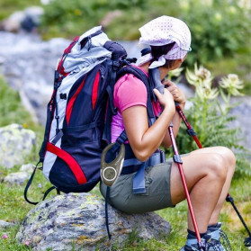 ANENG Alat Altimeter Barometer Thermometer Weather Forecast Hiking Karabiner - JN4-5 - Green - 7
