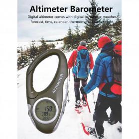 ANENG Alat Altimeter Barometer Thermometer Weather Forecast Hiking Karabiner - JN4-5 - Green - 8