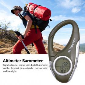 ANENG Alat Altimeter Barometer Thermometer Weather Forecast Hiking Karabiner - JN4-5 - Green - 9