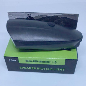 ANLOOK Lampu Klakson Sepeda Bike Light Waterproof XPG LED 250 Lumens - 7588 - Black