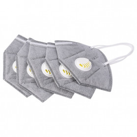 CkeyiN Masker Filter Udara Anti Polusi Respirator PM2.5 5 PCS - MD023G - Gray - 1