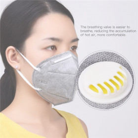 CkeyiN Masker Filter Udara Anti Polusi Respirator PM2.5 5 PCS - MD023G - Gray - 2