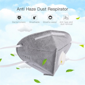 CkeyiN Masker Filter Udara Anti Polusi Respirator PM2.5 5 PCS - MD023G - Gray - 4
