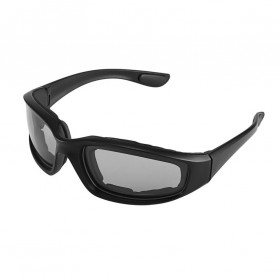 Acetato Kacamata Motor Sporty Dustproof - ZH1115401 - Black